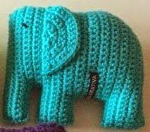PATRON GRATIS ELEFANTE AMIGURUMI Love Crochet, Crochet For Kids, Crochet Baby, Knit Crochet, Crochet Elephant, Elephant Pattern, Crochet Animals, Crochet Toys, Amigurumi Patterns