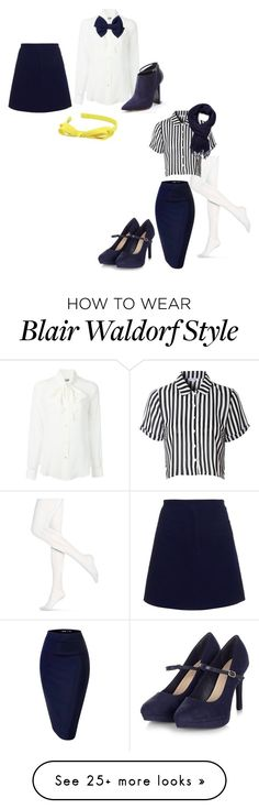 """Blair Waldorf"" by allie-millexo on Polyvore featuring moda, Moschino, Carven, L. Erickson, Hue, Glamorous, Forever 21 y Jimmy Choo"