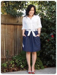Simplicity 2226 by Froo and Boo in Dear Stella Anchors Away fabric -- cute!