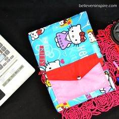 This DIY notebook cover would be the perfect homemade gift idea to stuff in your girl's Christmas stocking or to sew as a back to school craft. Designed especially to give personality to a plain notebook, the Pretty Personalized Notebooks are cute and surprisingly quick to make.