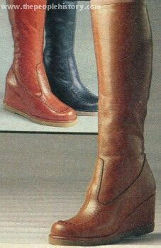 1980's wedge boots - I'm pretty sure these are the only kind of boots I ever had.  Got 'em at Zayre.