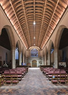 Heritage Lighting - Church in Cornwall. Erco pendants