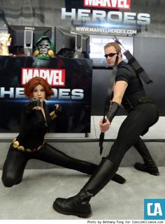 "Best PAX East 2013 Cosplay Ever: Day 1 - ComicsAlliance | Comic book culture, news, humor, commentary, and reviews - Hawkeye does ""lady"" pose. Amazing."