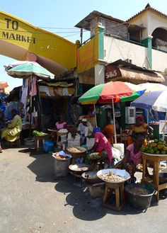 #This is a photo of one of my recent travel, this is Albert market in The Gambia, in the capital Banjul.
