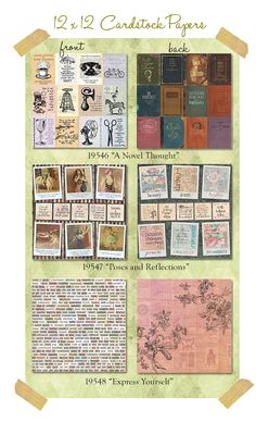 Pretty Papers from 7gypsies - gypsy moments - a vintage collection of inspiring quotes and feel good pretty papers all in 12x12 two sided - heavy duty scrapbooking paper - #gypsymoments