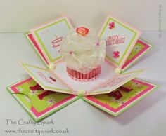 The Crafty Spark: Cupcake Exploding Box Card - THE TUTORIAL
