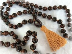 Tiger Eye 108 Bead Mala by TheSerenityStore on Etsy