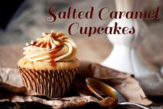 Salted Caramel Cupcakes « The Best Cupcake Recipes Baking Cupcakes, Yummy Cupcakes, Cupcake Recipes, Baking Recipes, Dessert Recipes, Baking Ideas, Cupcake Bakery, Cupcake Cookies, Köstliche Desserts