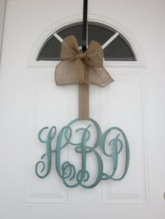 Family/Individual Initial Monogram Door by CarolinaMoonCrafts, $45.00
