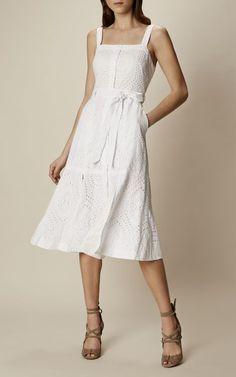 Karen Millen, BRODERIE SUMMER DRESS White