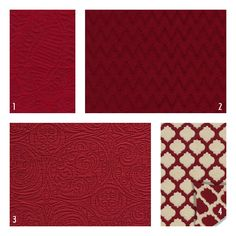 red Matelasse upholstery fabric - Google Search