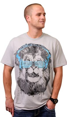 Shady Lion t-shirt design by joshuaians #tshirt #lion #design