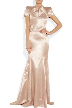 Vivienne Westwood Gold Label  Bronze silk-taffeta and tulle dress