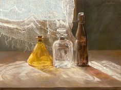 Three Bottles by Hanan Milner (was born in 1949 in Vilnius, Lithuania; since 1964 based in Israel)