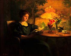 Jeune femme à la lecture - Marcel Rieder (1862-1942)