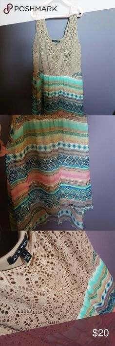 As U Wish Large High Low Dress As U Wish High Low Dress Worn Once Missing Skinny Belt See Pictures  Excellent Used Condition  Lots of Colors to Match With As U Wish Dresses High Low