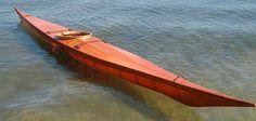 Greenland skin on frame kayak. Better than fiberglass or carbon fiber! Wood Canoe, Wooden Kayak, Canoe Boat, Paddle Boat, Canoe And Kayak, Wooden Boats, Sea Kayak, Chris Craft Boats, Kayak Storage