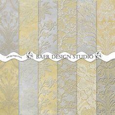 Gold and silver embossed digital backgrounds, instant download, gold digital paper.