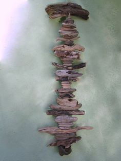 Driftwood Mobile With Holey Rock (DC108)