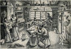Etienne Delaune, Goldsmith's Workshop, Engraving, 1576, print 2.jpg