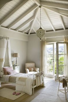 interiorstyledesign: Bedroom with French doors vintagehomeca:  (via Keltainen talo rannalla)