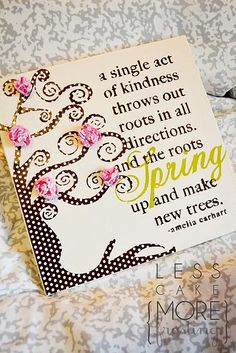 A pretty spring tree canvas. ~ Mod Podge Rocks!