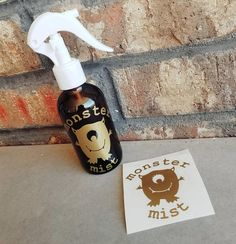 """""""Monster Mist"""" decal for a calming bedtime spray that will """"keep the monsters away."""""""