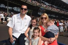 Sam Hornish with his family at the 100th running of the Indy 500