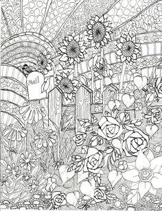 Coloring book spring illustration