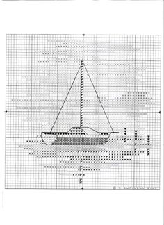 Sailing Boat Cross Stitch Pattern