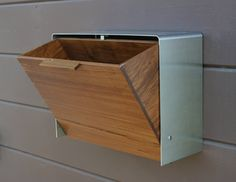 This stainless steel and Teak mailbox measures 14 5/8W x 11H x 6D. Description from pinterest.com. I searched for this on bing.com/images