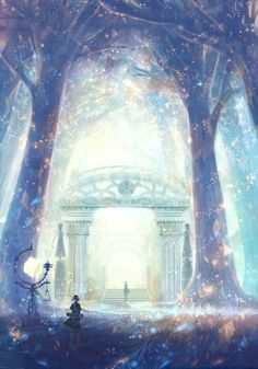 Discovered by Kitsune sempai. Find images and videos about beautiful, art and anime on We Heart It - the app to get lost in what you love. Fantasy Kunst, Anime Fantasy, Fantasy Places, Fantasy World, Fantasy Landscape, Landscape Art, Manga Art, Anime Art, Anime Kunst