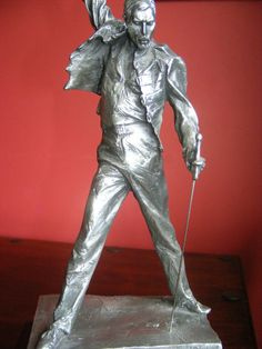 Freddie Mercury Queen Pewter Statue Rare Montreux 1/8th Scale We Will Rock You