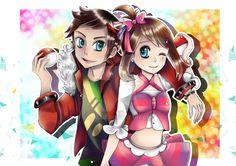 Pokemon ORAS - Brendan and May by Azallie.deviantart.com on @DeviantArt