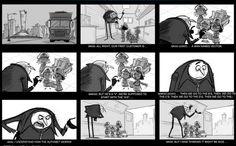 Arte y Animación: The SPA Studios. Story Board de Gru