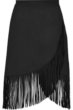 SHOP // a little spin on the fringed crepe skirt