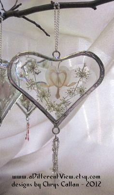 Heart of the Snow Queen Glass Bevel Floral by aDifferentView, $20.00