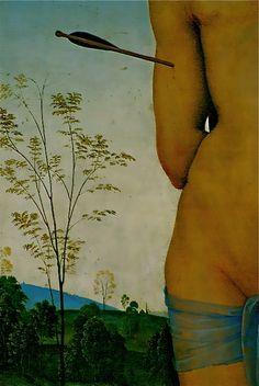 """Saint Sebastian"" detail 1493  ~ Pietro Perugino"
