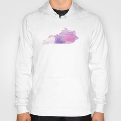Watercolor State Map - Kentucky KY purples Hoody by Rocky.rivers
