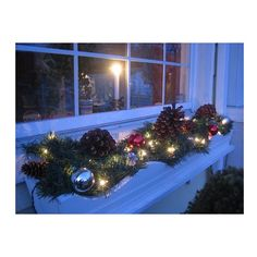 Christmas window boxes-add light this year Christmas Window Boxes, Winter Window Boxes, Christmas Decorations For The Home, Holiday Decorating, Holiday Crafts, Holiday Fun, Box Decorations, Decorating Ideas, Holiday Ideas