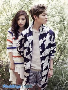 We Got Married Korean Variety Show --- SHINee Tae Min and A Pink Na Eun - InStyle Weddings Magazine