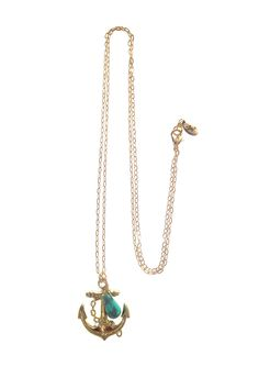 Turquoise  Anchor Necklace on HauteLook
