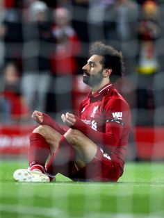 Mohamed Salah of Liverpool celebrates scoring his team's fifth goal during the Premier League match between Liverpool FC and Huddersfield Town at Anfield on April 2019 in Liverpool, England. Get premium, high resolution news photos at Getty Images Liverpool Fc Champions League, Liverpool Players, Liverpool Football Club, Liverpool Fc Wallpaper, Liverpool Wallpapers, Premier League Goals, Premier League Matches, Salah Footballer, Mohamed Salah Liverpool