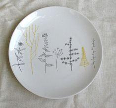 ceramic plate by skinnylaminx http://www.etsy.com/shop/skinnylaminx