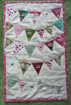 Sewn Christmas Bunting Advent Calendar by shopiheartbaby on Etsy