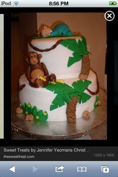 Monkey cake for my cousins baby