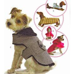 Apostilas Butterick 4885 - 5 Projetos - Modelos de Roupinhas de Cachorros Dog Coats - Mix3Arts