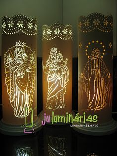 Ju Luminárias - Luminárias em PVC: Luminárias Religiosas