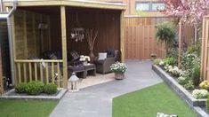 Afbeeldingsresultaat voor overkapping in kleine tuin