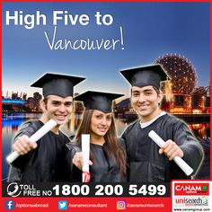 There is no denying the fact that #Vancouver is one of the finest cities for #education and living. In fact, Vancouver has been rated the best city for quality of life in North America, and the 5th best in the world, for several years running. Let #CanamConsultants help you find the best University and #StudyAbroad program in this leading city of Canada. Call us for more details at 1800-200-5499 Toll Free.